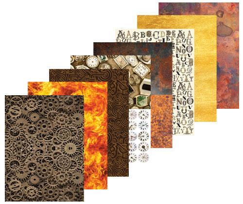 Pattern Paper A4 40's Steampunk