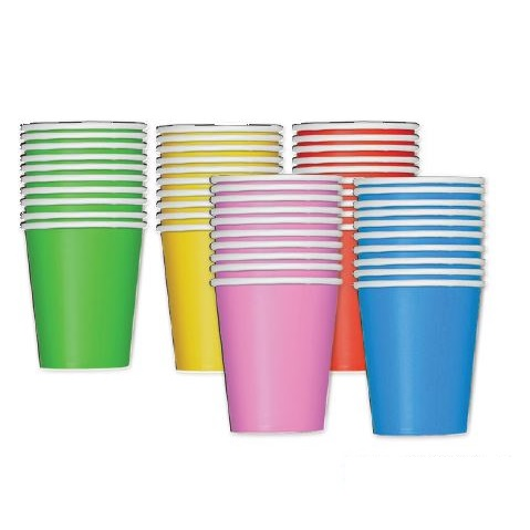 Paper Cups Coloured 50pack