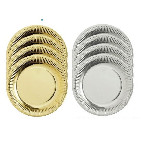 Paper Plates Metallic 50pack