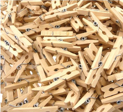 Natural Mini Craft Pegs