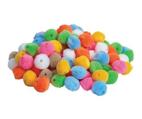 Threading Pom pom beads 20mm