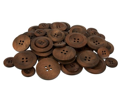 Wooden Buttons 50 pack