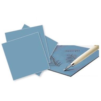 """Soft Lino Squares """"Blue colour"""""""