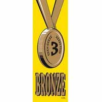 Bronze 3 Vinyl Medal Ribbon