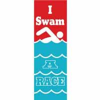 I Swam A Race Vinyl Medal Ribbon