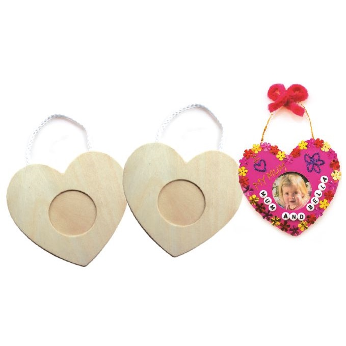 Wooden Heart Frames 10pack