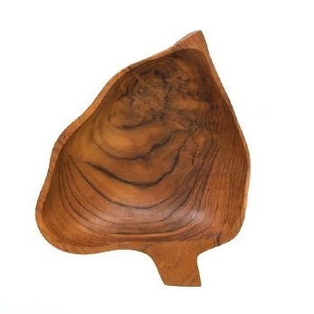 Wooden Leaf Bowls