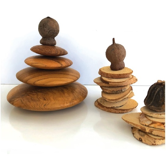 Wooden Stacking Stones Set of 4