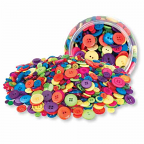 Buttons - Assorted Colour 600g Jar