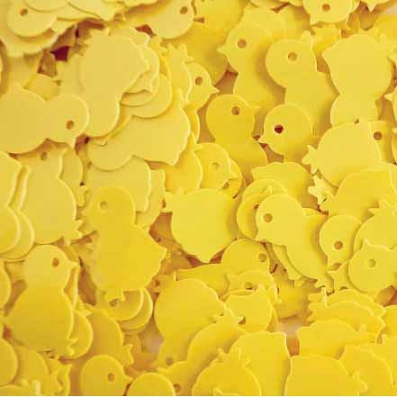 Chick Sequins 50g Yellow
