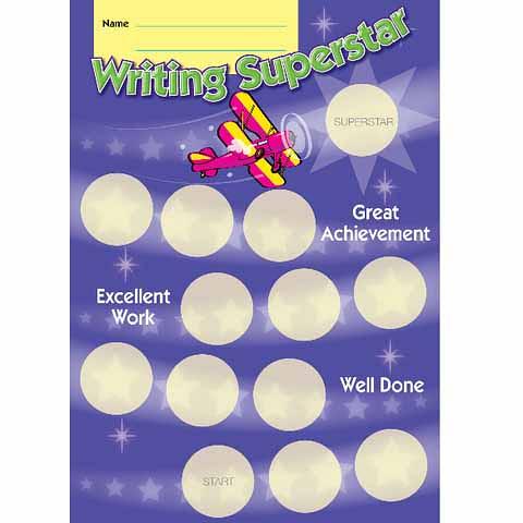 Writing Superstar Achievement Card