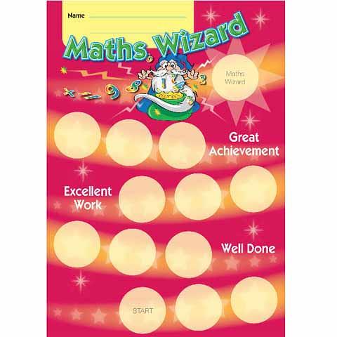 Maths Wizard Achievement Card