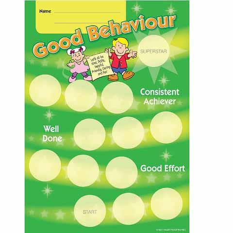 Good Behaviour Award Achievement Card
