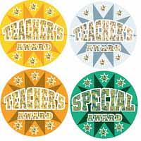 Holographic Laser Teachers Award Stickers 40mm