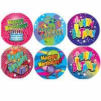 Birthday Stickers Laser Stickers 84 pack