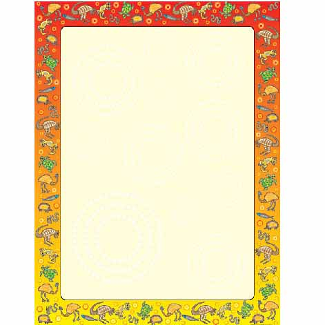 Blank with Aboriginal Border Chart