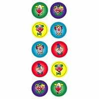 Clown Glitter Dot Stickers 800 pack (DG597)