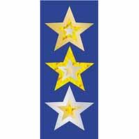 Gold Stars Foil Stickers 105 pack (FS238)