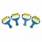 Corrugated Sponge Rollers 4 pack