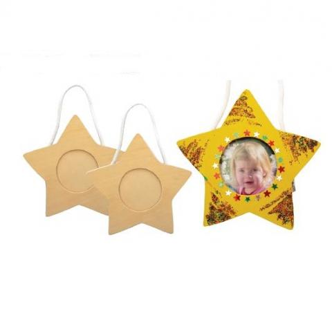 Wooden Star Frame 10 pack