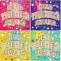 Head Teachers Award Foil Glitz Sticker