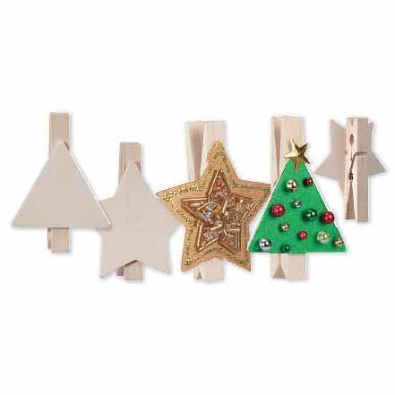Christmas Peg Shapes 10 pack
