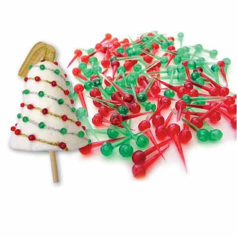 Christmas Plastic Pins 1000 pack