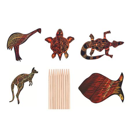 Scratch Art Australian Animals 30pk