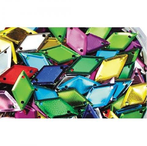 Diamond Shape Sequins 100g Assorted