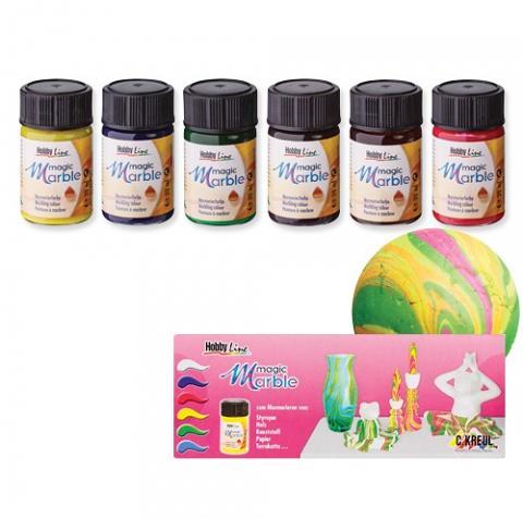 Marble Magic Paints 6 colour set (Rainbow)