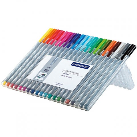 Triplus Fineliner 20 pack assorted colours
