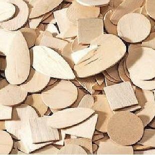 Wooden Shapes Natural 1000pk