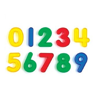 Transparent Numbers 10pc Set
