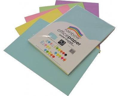 Photocopy Paper A3 Pastel 100pk asstd