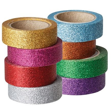 Glitter Washi Tape 8 pack