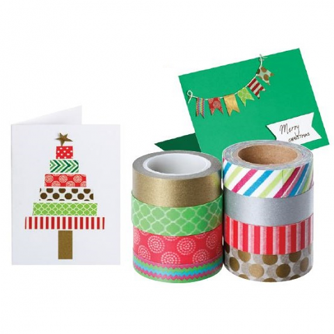 Christmas Washi Tape 8 pack
