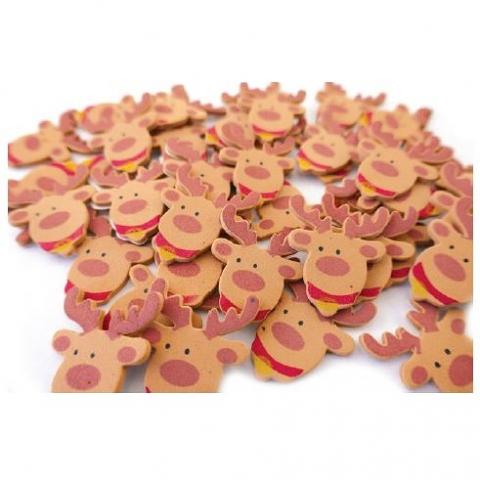 Foam Reindeer Shapes 200 pack