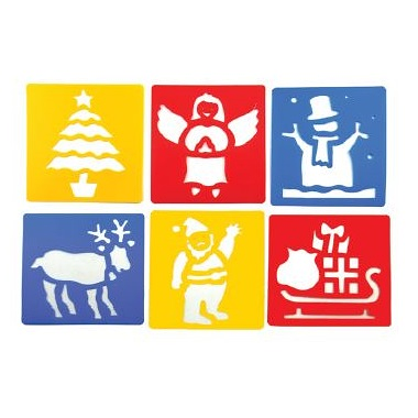 Christmas Stencils set of 6