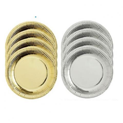 Paper Plates Metallic 50pack