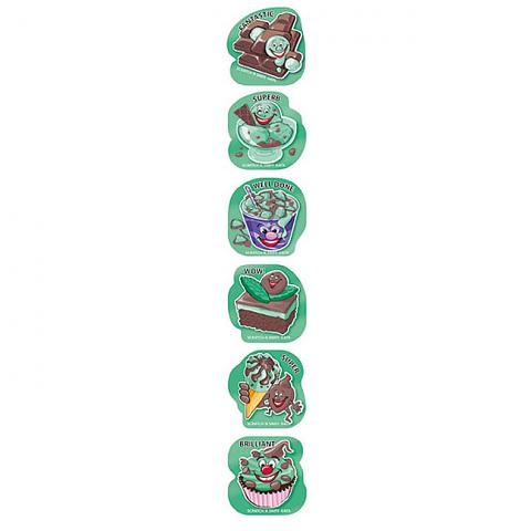 Scratch 'n Sniff Stickers Chock Mint Scented 72 pack (SS1028)