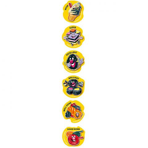 Scratch 'n Sniff Stickers Liquorice Scented 72 pack (SS1026)