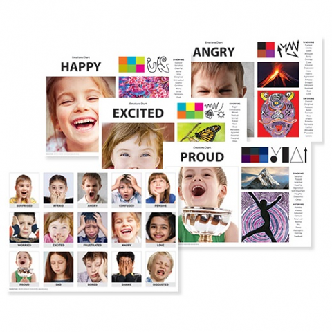 Emotions Art & Language Chart Pack A3