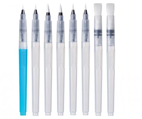 Aqua Brush Set Asst 8's