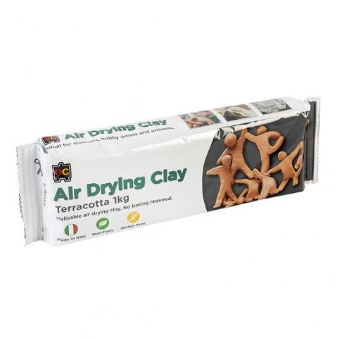 Air Dry Clay 1kg Terracotta