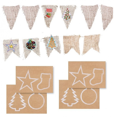 Hessian Bunting 24pack