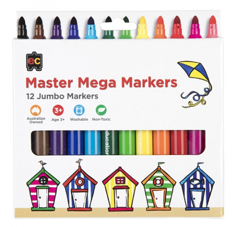 Master Mega Markers Pack of 12