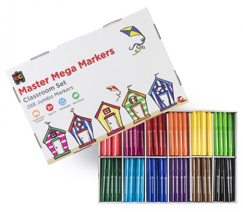 Master Mega Markers Classpack of 288