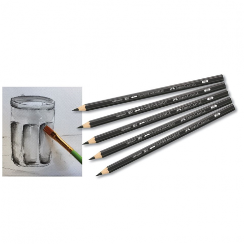 Graphite Aquarelle Water Soluble Pencils 6 pack