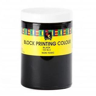 Block Printing Ink 500ml Black