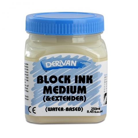 Derivan Block Ink Medium & Extender 250ml